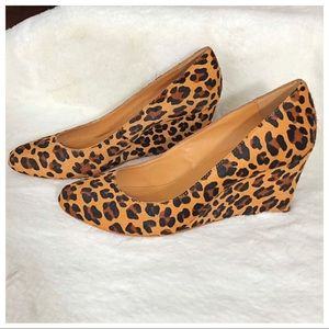 J. Crew Shoes - J. Crew Tan & Black Calf Hair Leopard Wedges